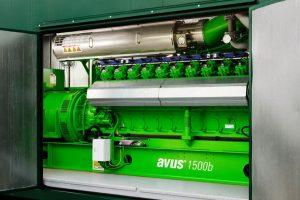 2G AVUS 1500b. Jenbacher 420. 1,487kW. biogas.
