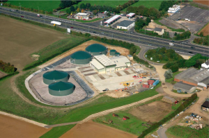 WELTEC anaerobic digestion plant for organic waste treatment.