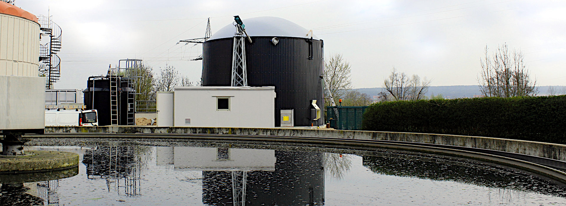 wwtp with digester.