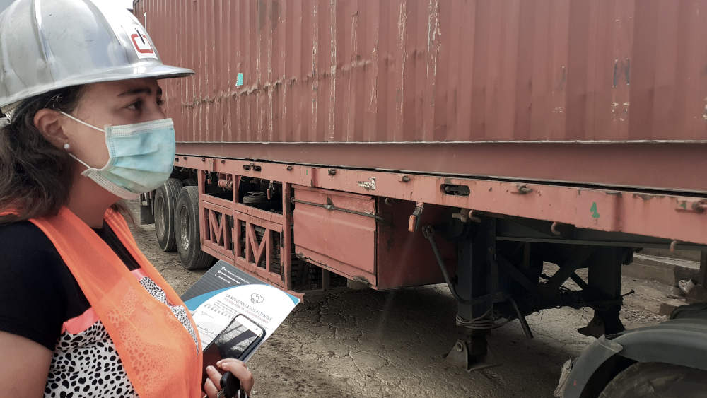 Delivery of container.
