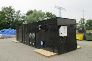compact bio filter. technical plant. ventilator integrated.